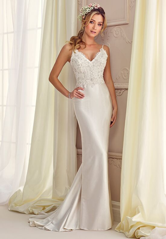 Enchanting by Mon Cheri 217110 Sheath Wedding Dress