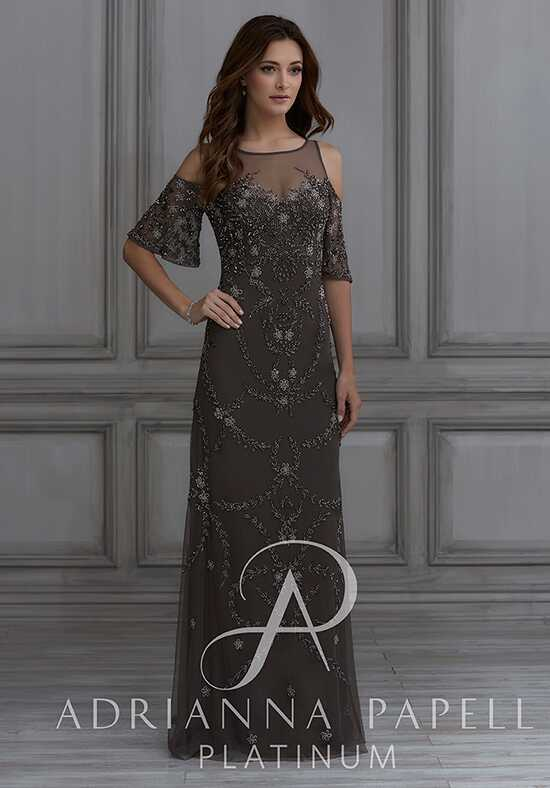 Adrianna Papell Platinum 40126 Illusion Bridesmaid Dress