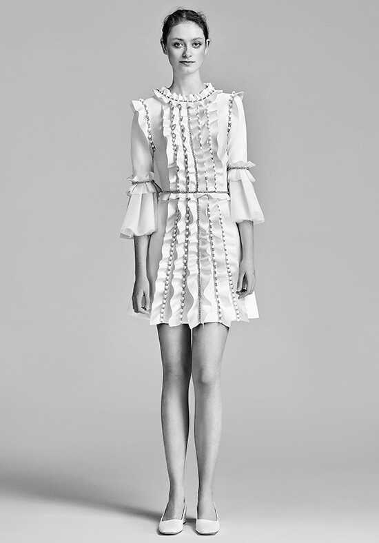 Viktor&Rolf Mariage Sparkle Volant Mini A-Line Wedding Dress