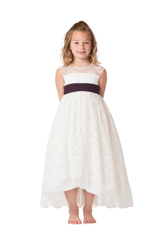 Bari Jay Flower Girls F6817 Ivory Flower Girl Dress