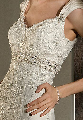 Demetrios 1424 Sheath Wedding Dress