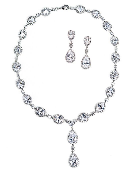 Anna Bellagio Keirsten Necklace and Earring Set Wedding Earring photo
