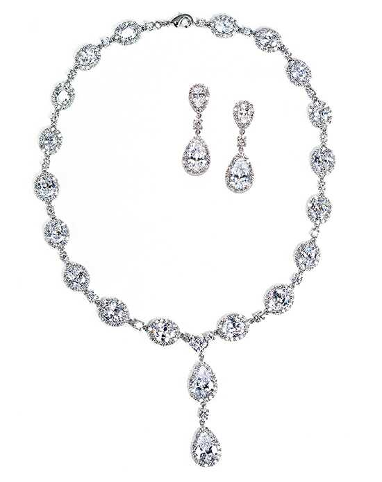 Anna Bellagio Keirsten Necklace and Earring Set Wedding Earrings photo