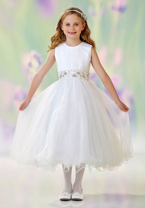 Joan Calabrese by Mon Cheri 118303 Ivory Flower Girl Dress