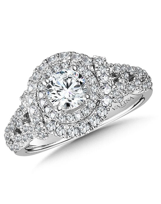 Valina Unique Round Cut Engagement Ring