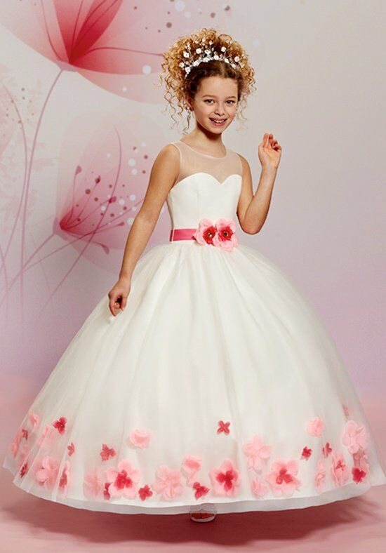 Cupids by Mary's F470 Ivory Flower Girl Dress