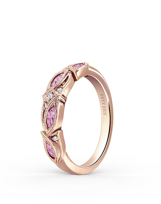 Kirk Kara Dahlia Collection K155PDR-B Rose Gold Wedding Ring