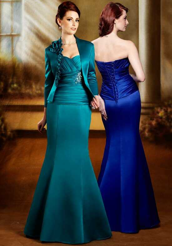 Beautiful Mothers by Mary's M2120 Blue Mother Of The Bride Dress