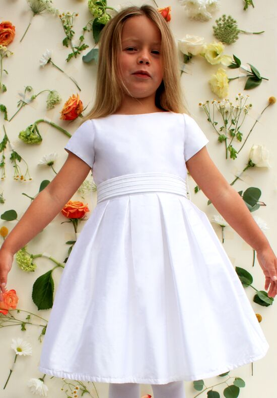 Isabel Garretón Chic Ivory Flower Girl Dress