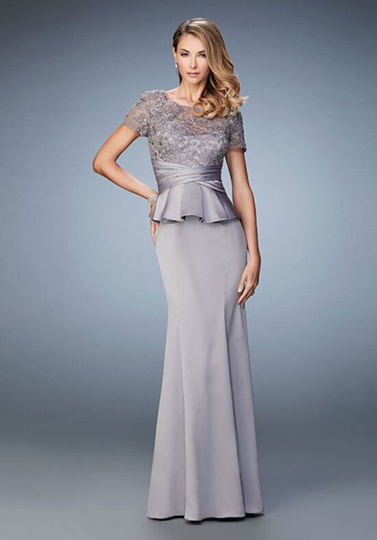La Femme Evening 21760 Silver Mother Of The Bride Dress