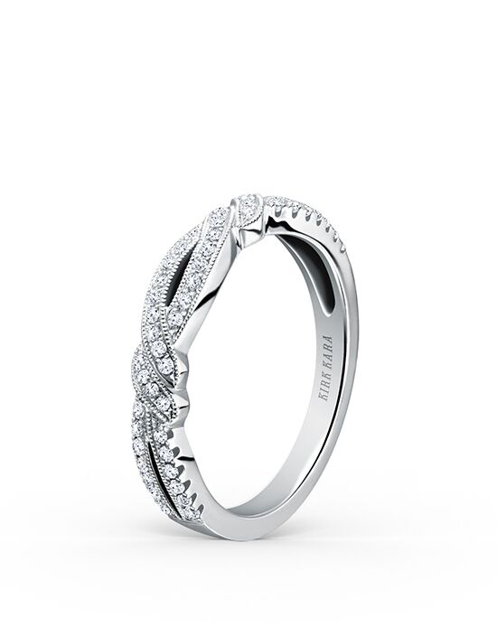 Kirk Kara Pirouetta Collection K133-B White Gold Wedding Ring