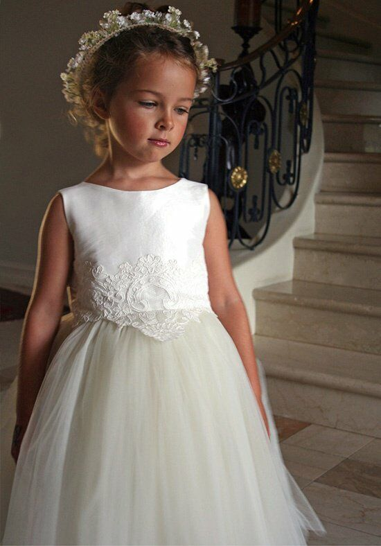 Isabel Garretón Enchanting Ivory Flower Girl Dress