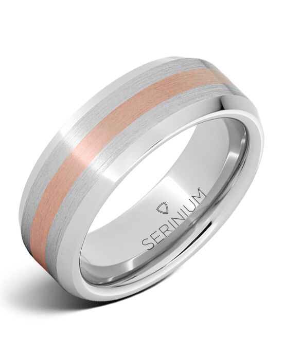 Serinium® Collection Endeavor — Serinium® and 14K Rose Gold Ring-RMSA002066 Serinium® Wedding Ring