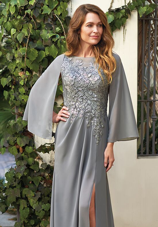 Jade J205067 Silver Mother Of The Bride Dress