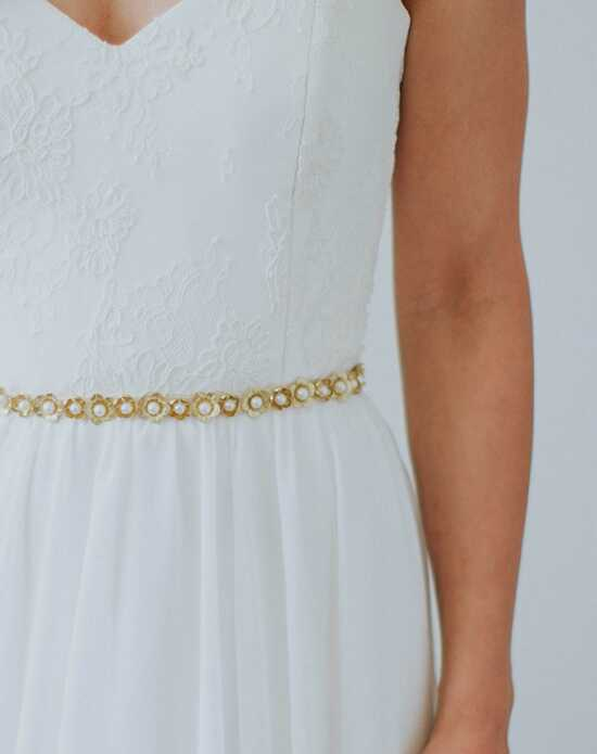 Davie & Chiyo | Sashes & Belts Abigail Sash Gold, Ivory, White Sashes + Belt