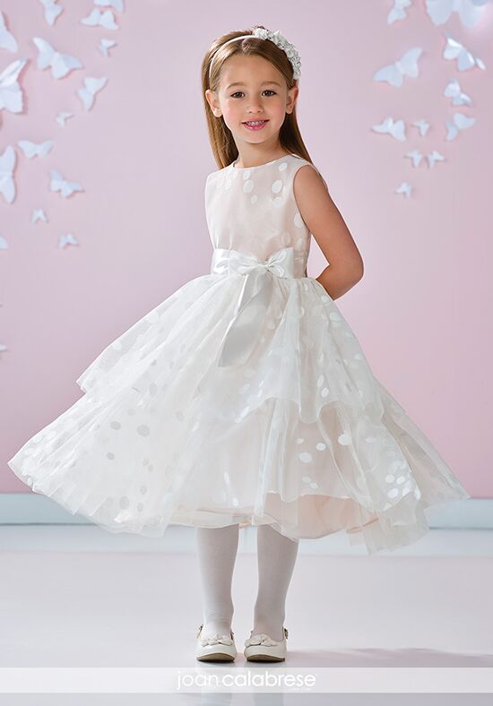 Joan Calabrese by Mon Cheri 117348 Ivory Flower Girl Dress