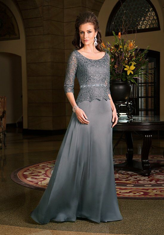 Jade Couture K168067 Silver Mother Of The Bride Dress