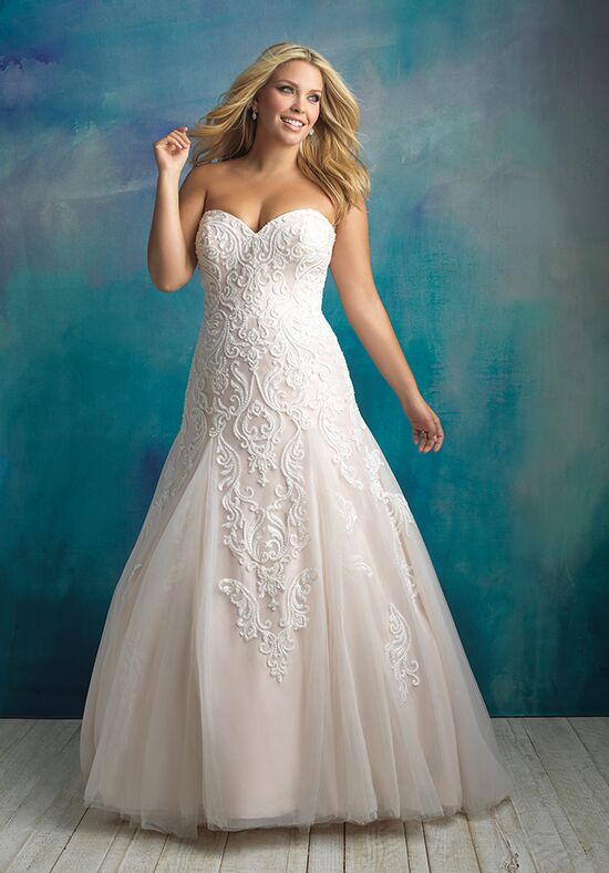 Allure Bridals W417 A-Line Wedding Dress