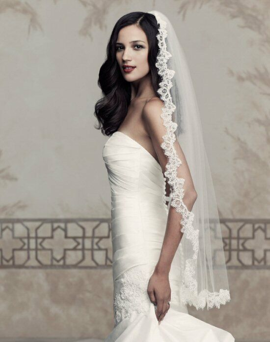 Paloma Blanca Veils Collection V431F Ivory Veil