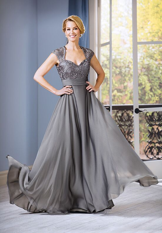 Jade J185060 Silver Mother Of The Bride Dress