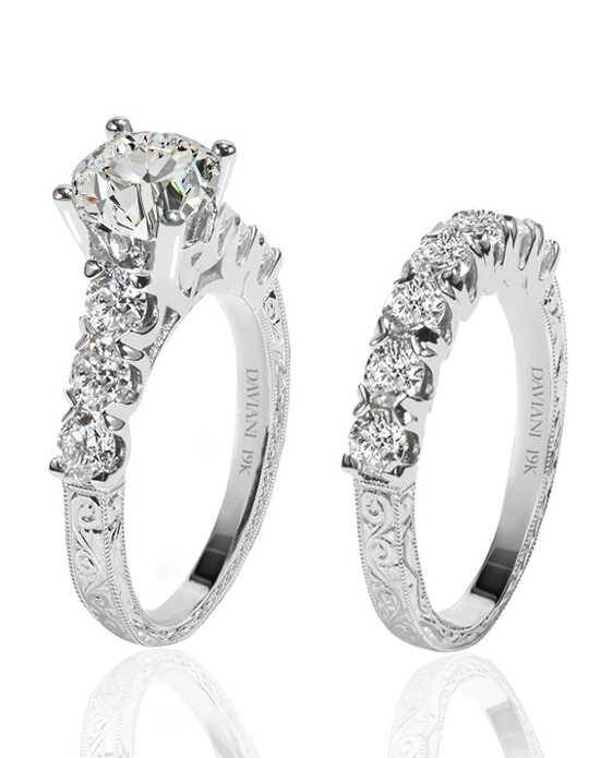 Daviani Love Links Collection DCR1198 White Gold Wedding Ring