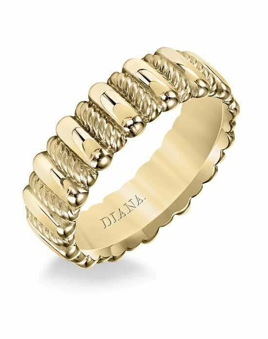 Diana 11-N20Y100-G Gold Wedding Ring