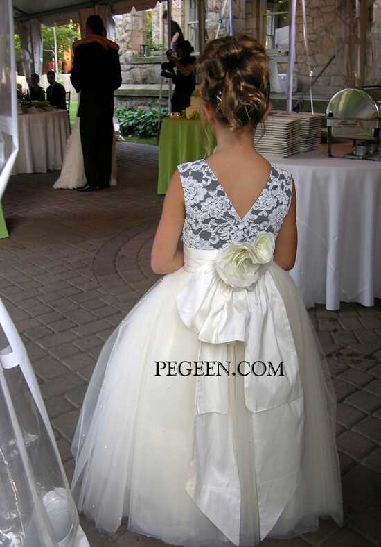 Pegeen.com 697 Black Flower Girl Dress
