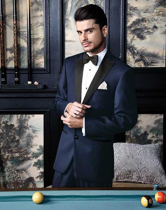 Blue Wedding Tuxedos + Suits