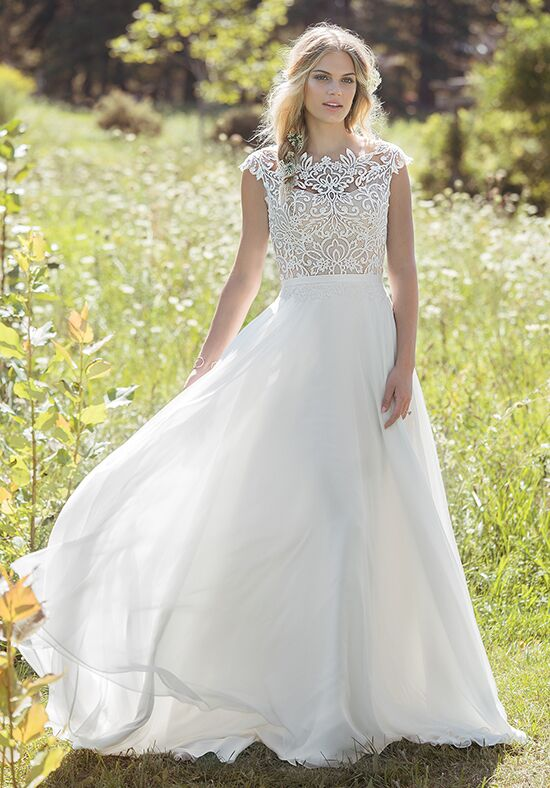 Lillian West 6493 Old A Line Wedding Dress