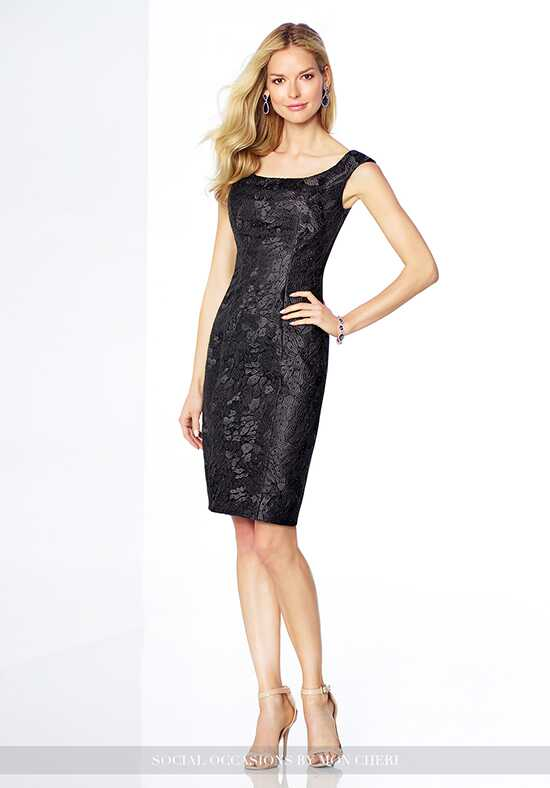 Social Occasions by Mon Cheri 117828 Black Mother Of The Bride Dress