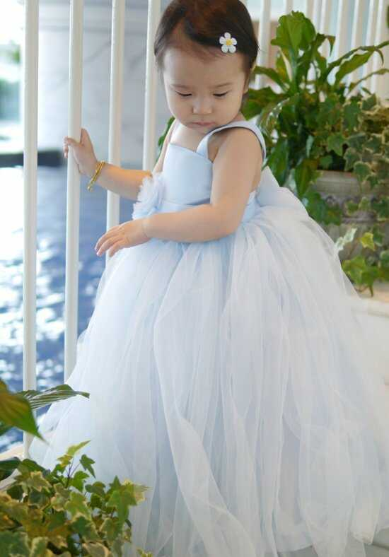 Eden Princess 12384 Blue Flower Girl Dress