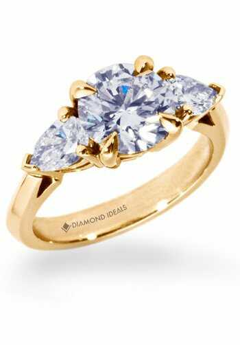 Diamond Ideals Round With Pear Shaped Side Stone