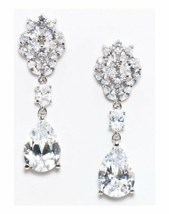 Anna Bellagio MARLEY GLAMOROUS CUBIC ZIRCONIA STATEMENT EARRING Wedding Earring photo