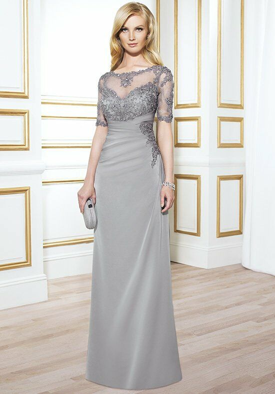 Val Stefani Celebrations MB7413 Gray Mother Of The Bride Dress