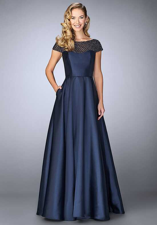 La Femme Evening 24883 Blue Mother Of The Bride Dress