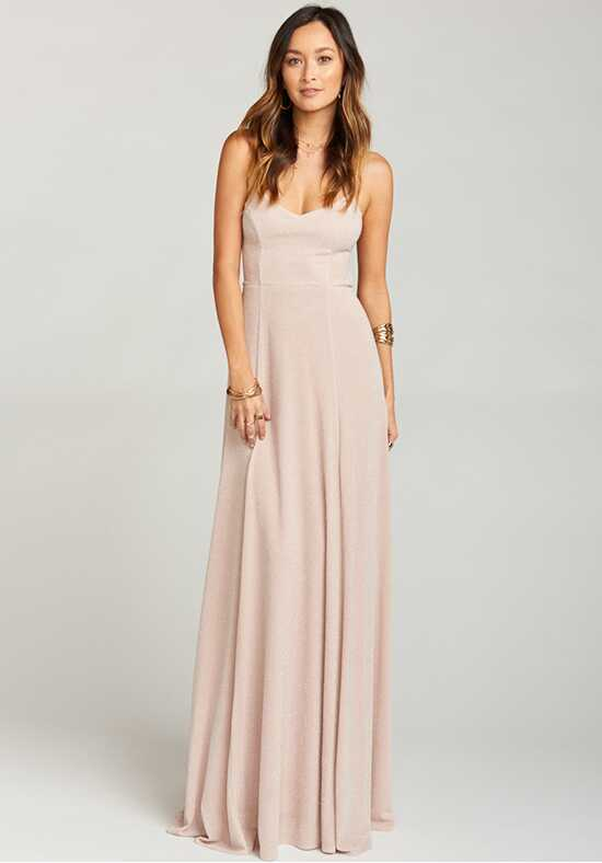 Show Me Your Mumu Godshaw Goddess Gown - Dancing Queen Shine Blush Scoop Bridesmaid Dress