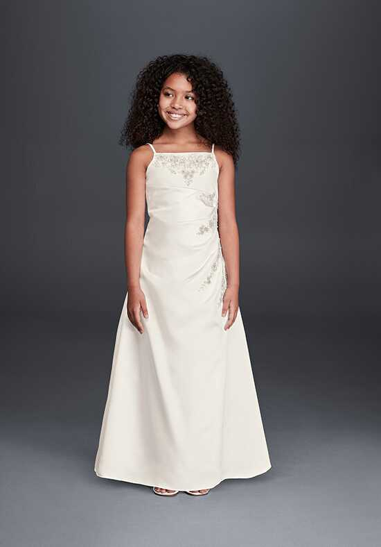 David's Bridal Flower Girl FG9665 Ivory Flower Girl Dress