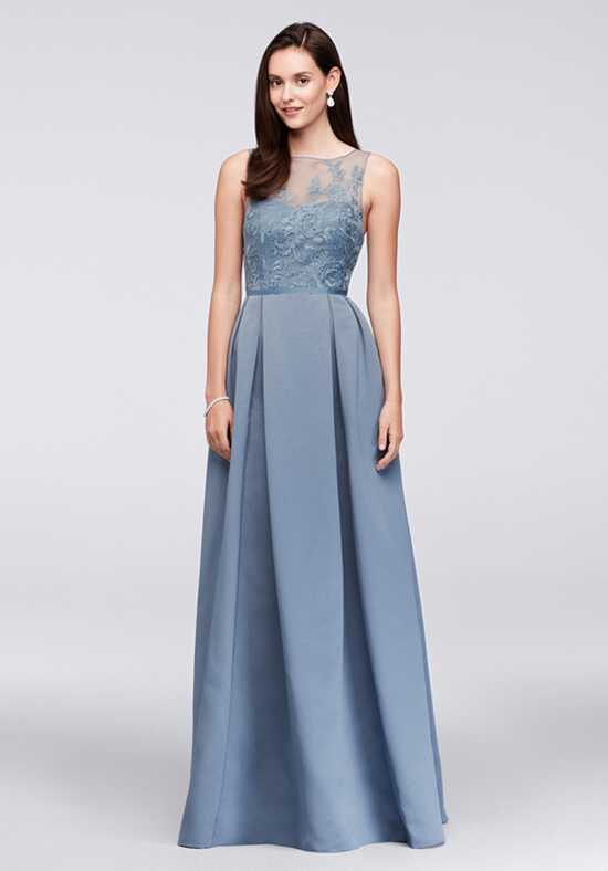 Oleg Cassini Exclusively at David's Bridal Bridesmaid Dresses OC290023 Illusion Bridesmaid Dress
