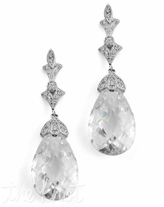 Anna Bellagio Lydia Art Deco Swarovski Crystal Drop Earrings Wedding Earring photo