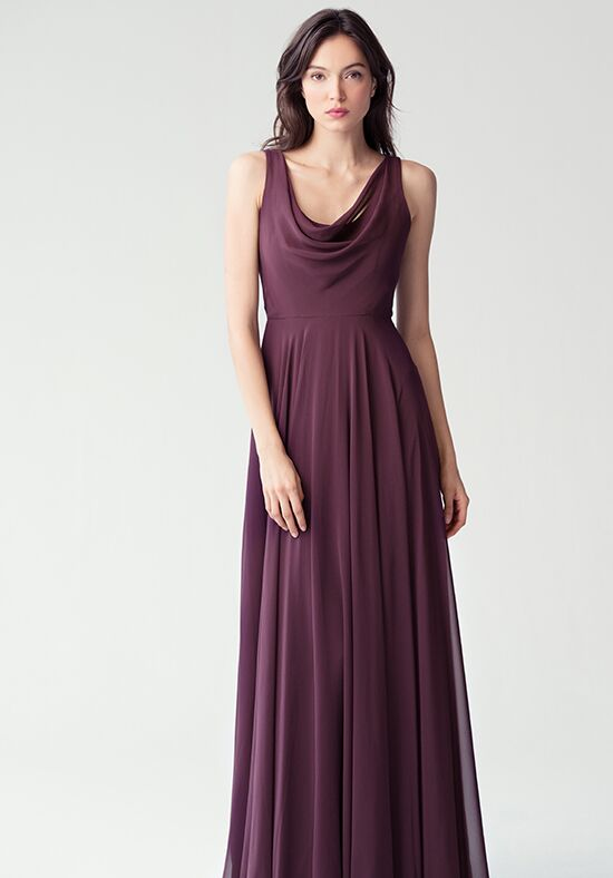 Jenny Yoo Collection (Maids) Liana {BlackCurrent} #1782 Bridesmaid Dress