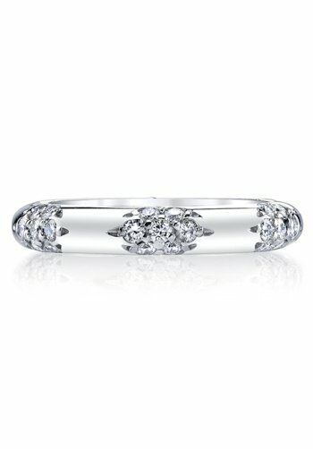 Michael B The Crown Lace Band Platinum Wedding Ring