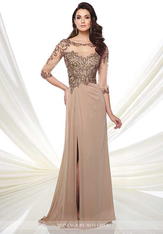 Montage by Mon Cheri 216969 Champagne Mother Of The Bride Dress