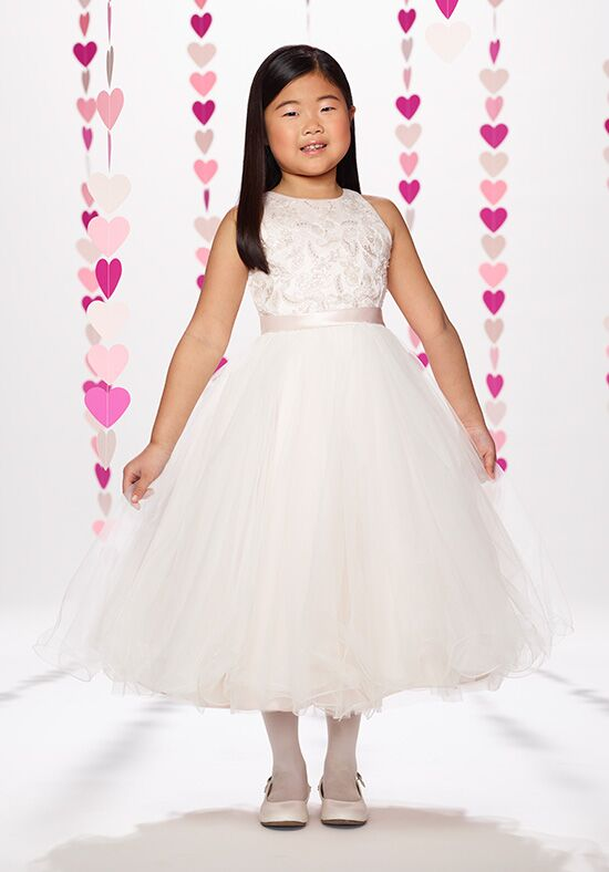 Joan Calabrese by Mon Cheri 217384 Ivory Flower Girl Dress