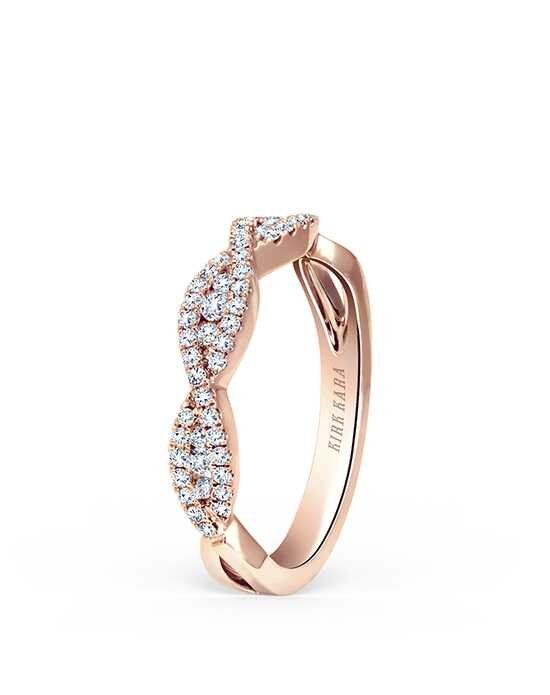Kirk Kara Pirouetta Collection K199R-B Rose Gold Wedding Ring