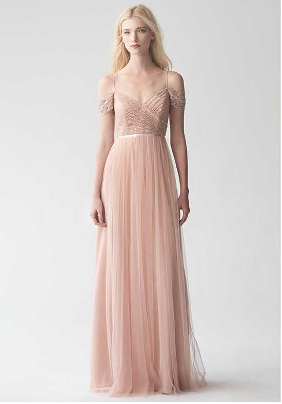 Jenny Yoo Collection (Maids) Lyla {Cameo Pink} #1759 Off the Shoulder Bridesmaid Dress