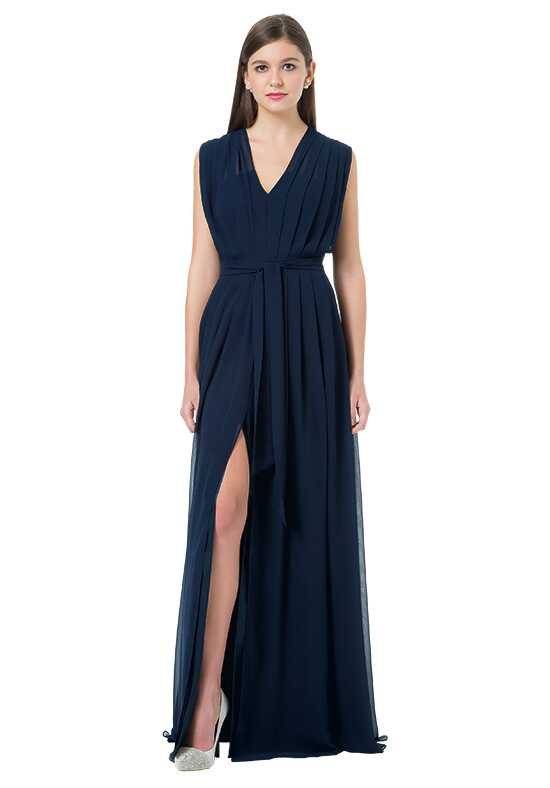 Bill Levkoff 1215 V-Neck Bridesmaid Dress
