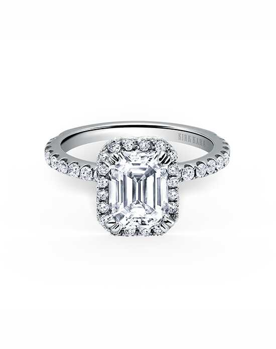 Kirk Kara Glamorous Emerald Cut Engagement Ring