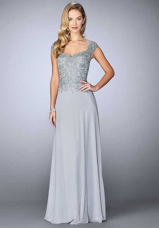 La Femme Evening 23286 Grey Mother Of The Bride Dress