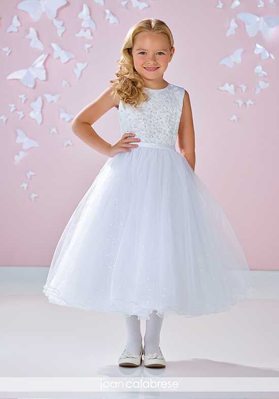 Joan Calabrese by Mon Cheri 117338 White Flower Girl Dress