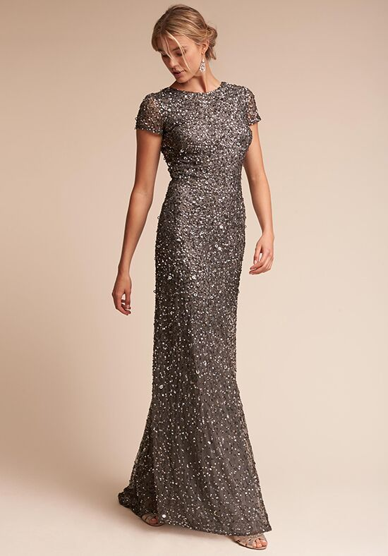 BHLDN (Mother of the Bride) Lucent Silver Mother Of The Bride Dress